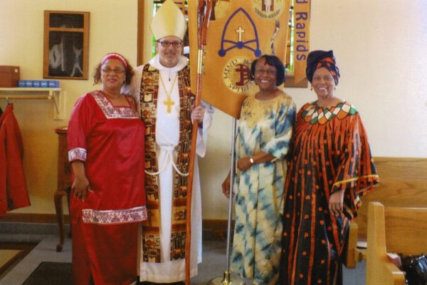 Women with Bishop Wayne
